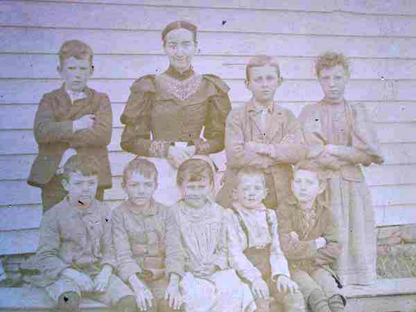 School Class Meredith/Shackport Area - Late 1800's