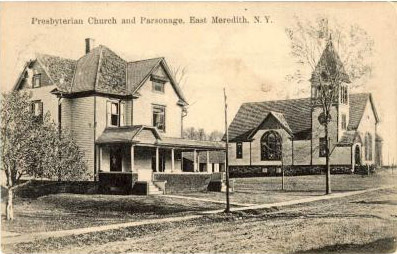 Presbyterian Church and Parsonage, East Meredith