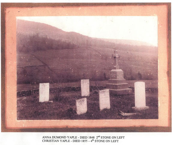 old photo of Yaple Cemetery