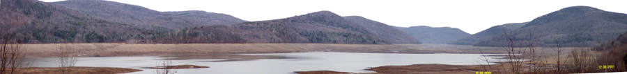 Cannonsville Reservoir - low water