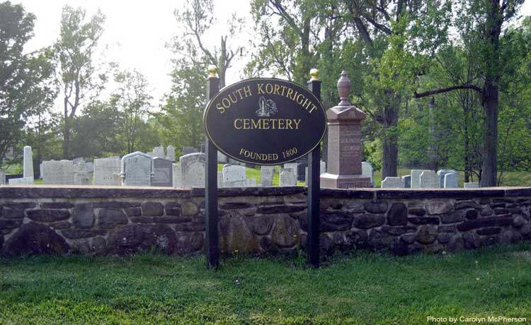 Entrance to South Kortright Cemetery